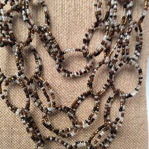 Chico's Jewelry - Chico's 3 Strand Multi-colored Beaded Necklace